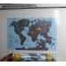 Магнитная стиральная карта Мира на холодильник