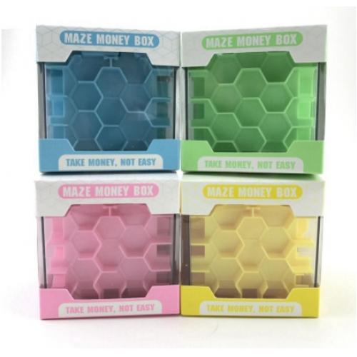 MAZE MONEY BOX -honeycomb