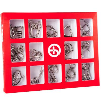 Набор металлических головоломок 15 шт