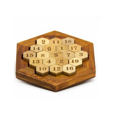 Головоломка деревянная Соты 38