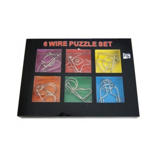 Набор головоломок 6 wire puzzle set