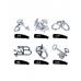 Набор головоломок unlock Zinc alloy set-6pcs