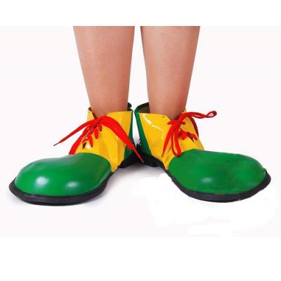 Клоунские ботинки зеленые