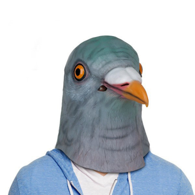 Маска голова голубя