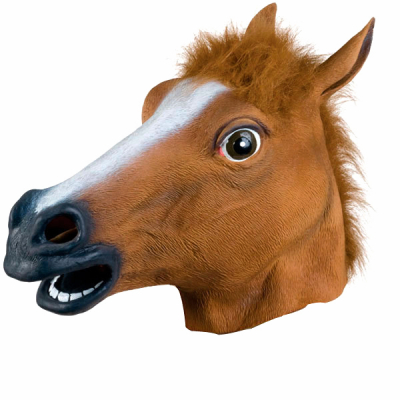 Маска голова Лошади коричневая