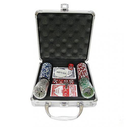 Покер 100 фишек в кейсе