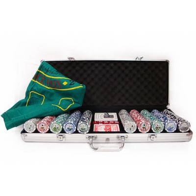 Покер 500 фишек в металлическом кейсе