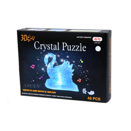 3Д пазл (crystal puzzle 3d) Лебедь