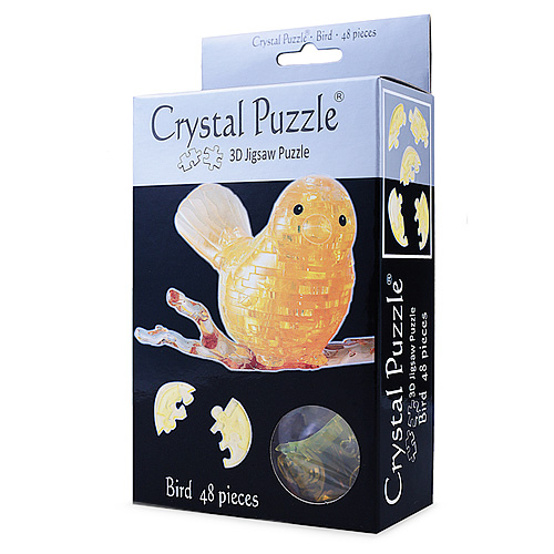 3Д пазл (crystal puzzle 3d) Птичка