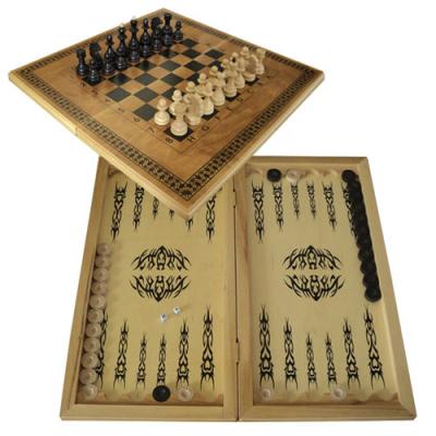 Набор 3 в1 (нарды, шахматы, шашки)