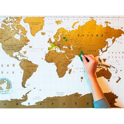 Стирательная (скретч) карта мира