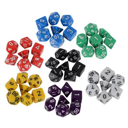 Кубики игральные (дайсы) набор 7шт