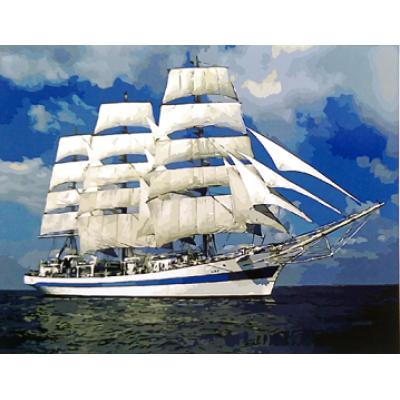Картина по номерам корабль