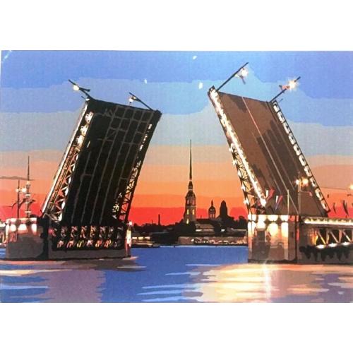 Картина по номерам Питерский мост