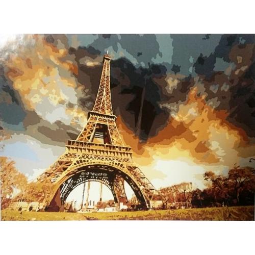 Картина по номерам в Париже