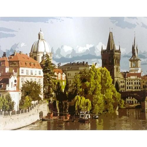 Картина по номерам Вид на город