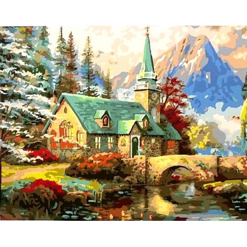 Картина по номерам домик