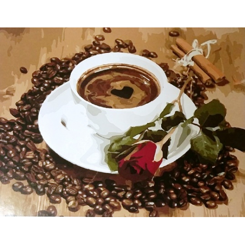 Картинка по номерам на холсте Кофе