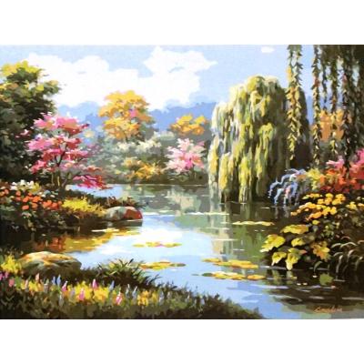 Картина по номерам. Тихая река