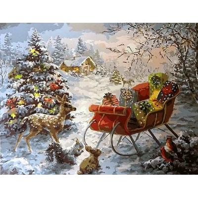 Картина по номерам. Рождество