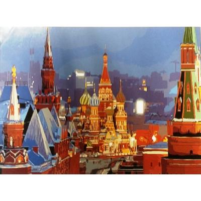 Картина на холсте по номерам. Красная площадь