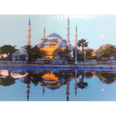 Картина на холсте по номерам. Мечеть