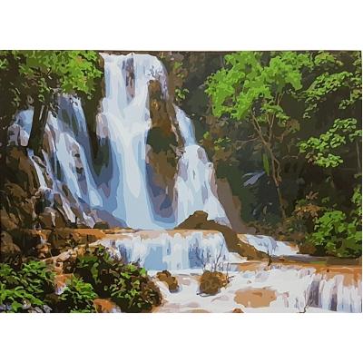 Картина на холсте по номерам. Водопад