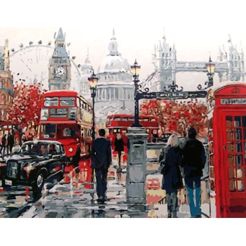 Картина на холсте по номерам. Старый Лондон