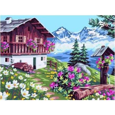 Картина по номерам. В Альпах