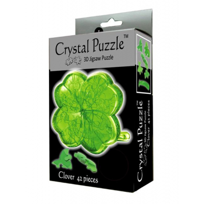 3Д пазл (crystal puzzle 3d) Клевер
