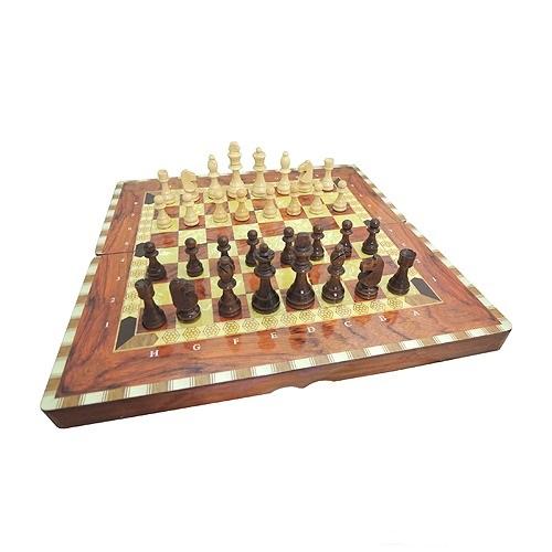 Набор игр 3 в 1 шахматы нарды шашки большого размера