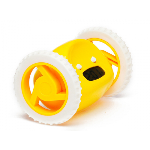 Бегающий будильник-желтый